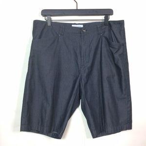 Calvin Klein Mens 36 Black Slim Fit Dress Shorts
